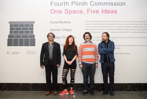 Nominated artists, from left: Shuddha Sengupta of the Raqs Media Collective, Heather Phillipson, Michael Rakowitz and Damián Ortega.
