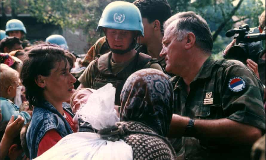 General Ratko Mladic in Srebrenica on July 12, 1995. He has lost his appeal against life imprisonment for war crimes.