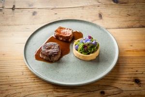 The lamb and mini tartlet as part of the tasting menu at the Small Holding, Kent.