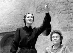 The House of Bernarda Alba, 1986  Nuria Espert directed Glenda Jackson (Bernarda Alba), left, and Joan Plowright (La Poncia) in this production of Lorca's play, which won the Lyric's first Olivier award