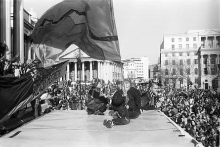 Reclaim the Streets at Trafalgar Square, May 1997.