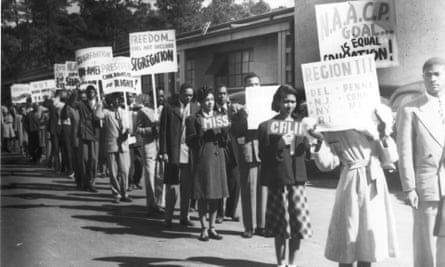 A civil rights protest shown in The Soul of America