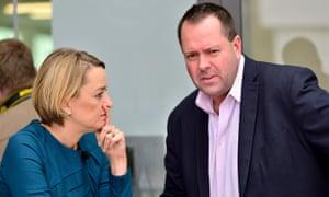 Will Walden with BBC News political editor Laura Kuenssberg.