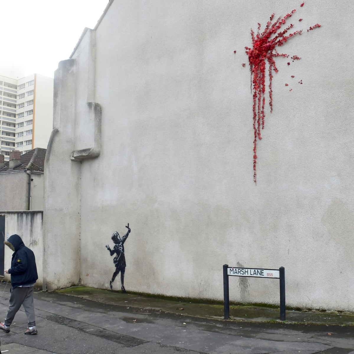 Valentine's Day art in Bristol confirmed by Banksy as his work ...