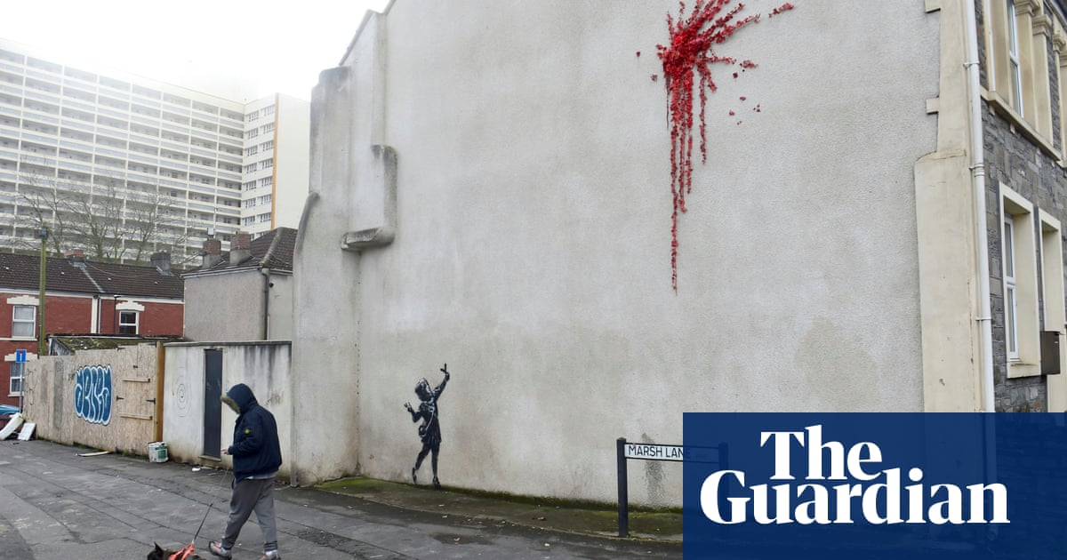 Valentine's Day art in Bristol confirmed by Banksy as his work