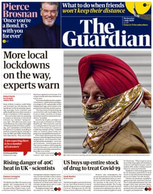 Guardian front page, Wednesday 1 July 2020