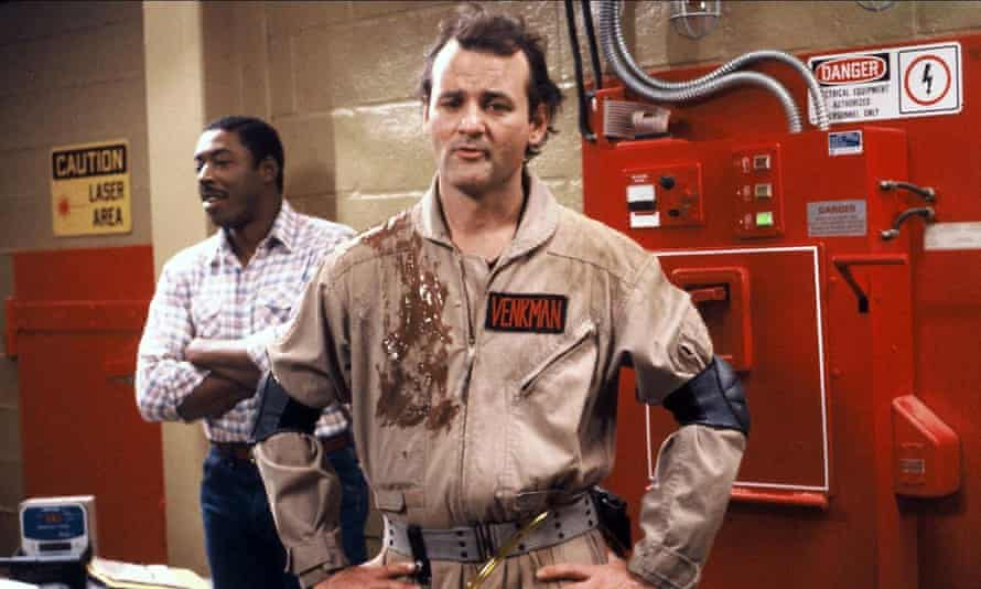 Bill Murray in Ghostbusters: from the slime to the ridiculous