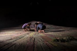 Production shot of Hecate, performed entirely in Noongar language without surtitles, which premiered in Perth in Feb 2020.