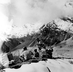 Hillary with Sherpas 1960.