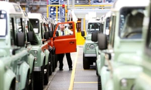 Jaguar Land Rover production line in Solihull