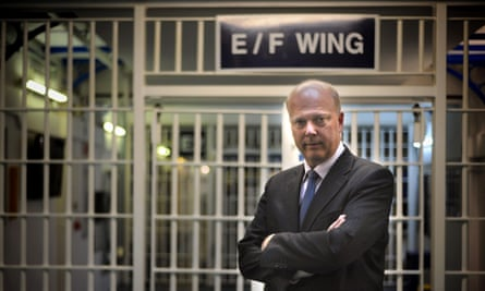 Chris Grayling in a prison