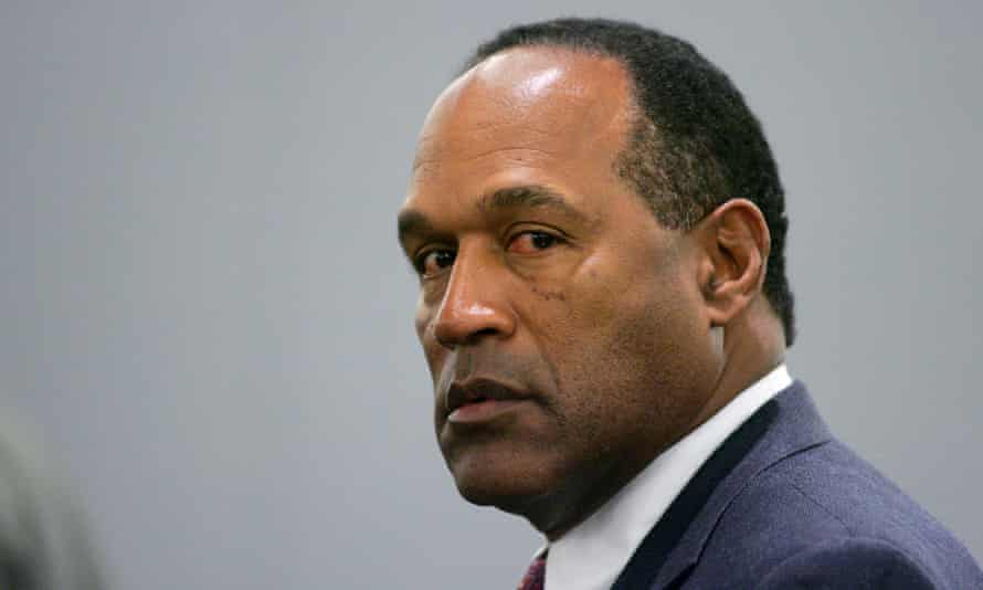 OJ Simpson appears in a courtroom for his preliminary hearing in Las Vegas.