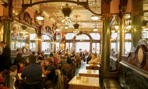 Counter culture: the lavish interior of Café Majestic.