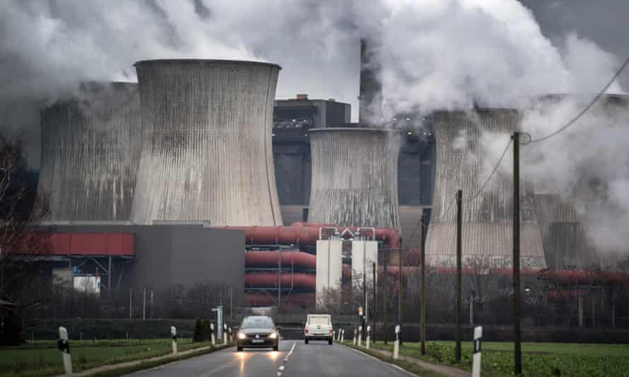 The lignite-fired power plant in Niederaussem, Germany.