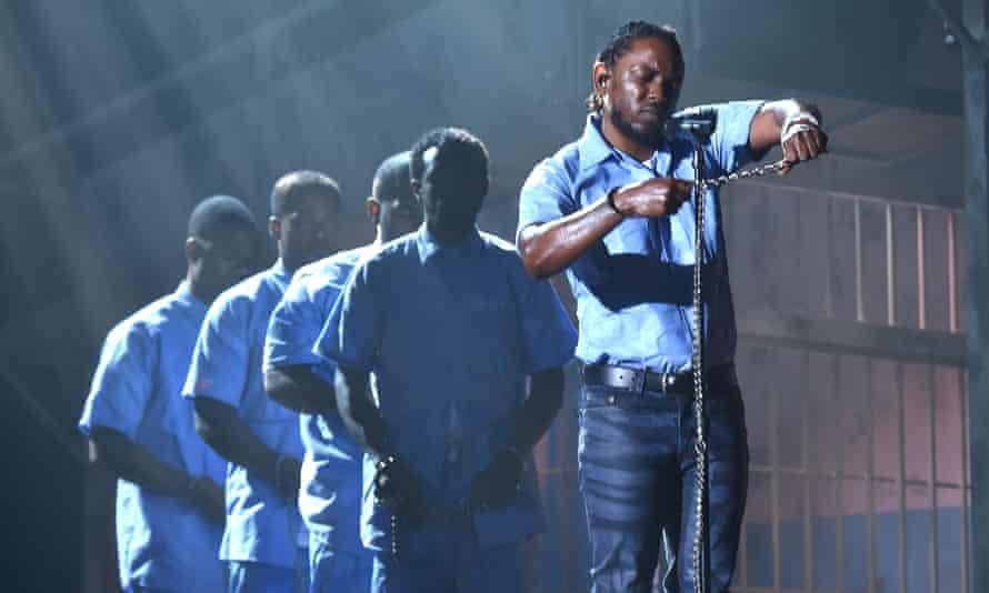Kendrick Lamar at the Grammy awards last February.