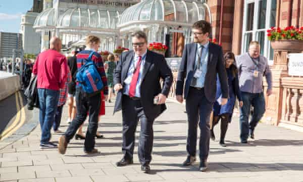 Tom Watson at the Labour party conference in Brighton.