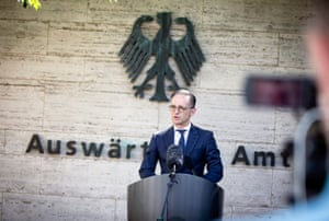 Germany's foreign minister, Heiko Maas, announcing the lifting of travel restrictions.