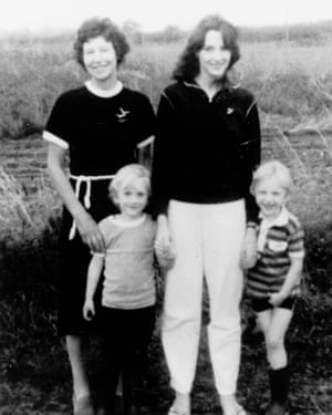 Jeremy Bamber's adoptive mother June Bamber, his sister Sheila Caffell and her sons Nicholas and Daniel.