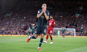 Riyad Mahrez reacts after missing his penalty.