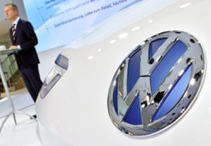 VW brand chief Herbert Diess speaks during a presentation on the group's turnaround plan in Wolfsburg, Germany.