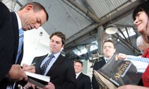 Tony Abbott at the launch of his book Battlelines, which was published by Melbourne University Publishing.