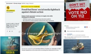 Fossil fuel firms' social media fightback against climate action