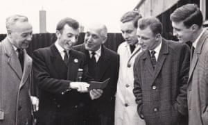 David Smith and fellow team-mates with three famous football managers