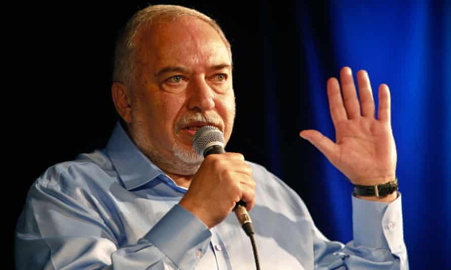 Avigdor Lieberman, leader of the Yisrael Beiteinu party, speaks during an election panel.