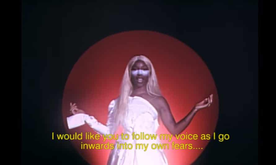 A still from Charlotte Adigéry's Self-Meditation video.
