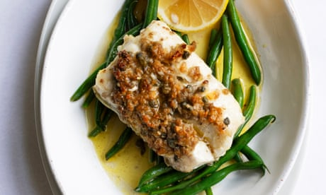 Nigel Slater's cod with anchovy, capers and thyme recipe