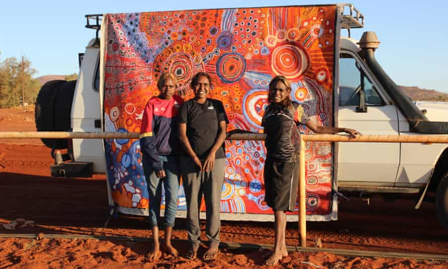 Phyllis Briant, Sharon Ken and Anistine Ken from Tjala Arts in South Australia