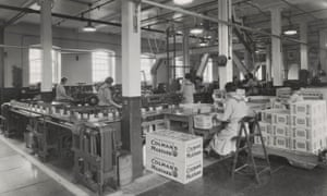 An archive image of the Colman's factory in Norwich from early 1900s.