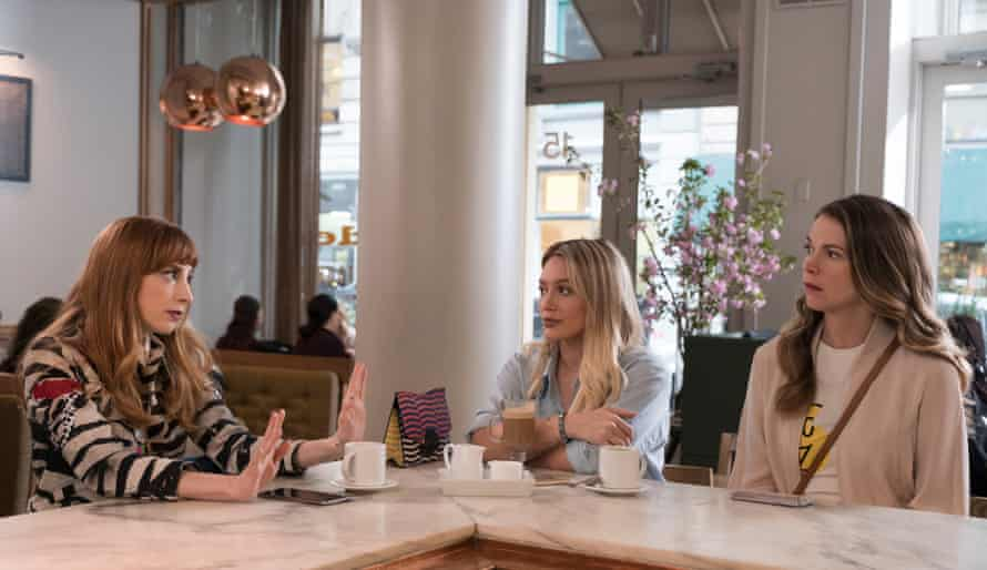 Molly Bernard, Hillary Duff and Sutton Foster in season four of Younger.