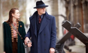 SS-dB ... Sylvia Manning (Maeve Dermody) and Detective Superintendent Douglas Archer (Sam Riley).