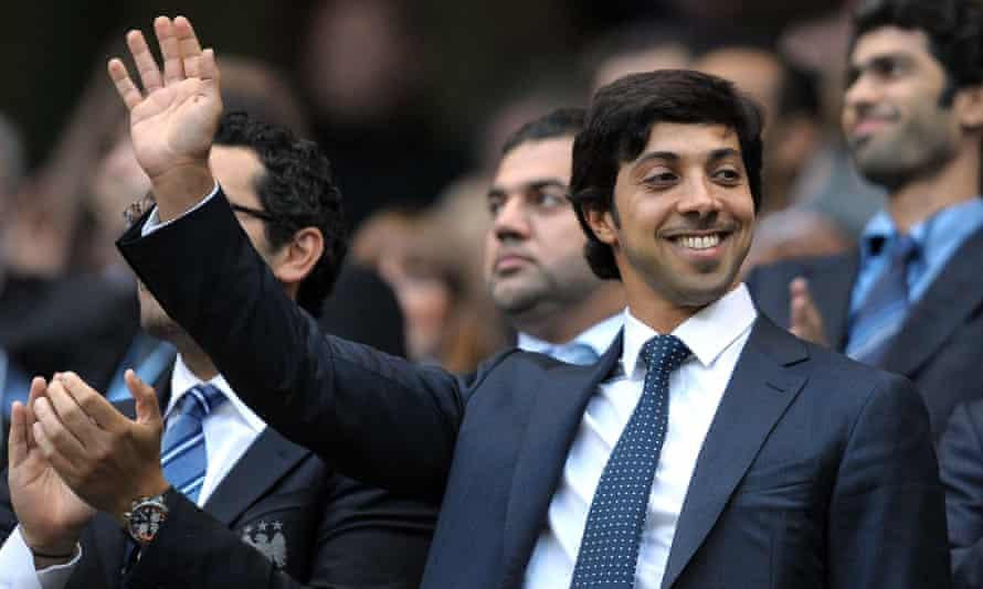 Manchester City's owner, Sheikh Mansour bin Zayed al-Nahyan.