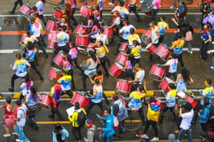 A musical anti-government protest in Bogotá