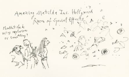 Matilda illustration by Quentin Blake as a Hollywood special effects expert