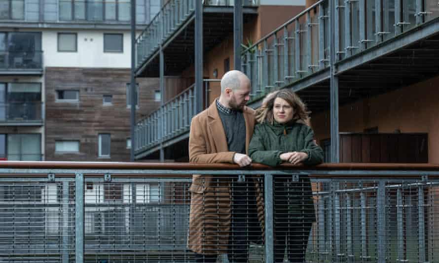 Natasha Johannson and Matthew Hallsworth outside the Albion Works complex.