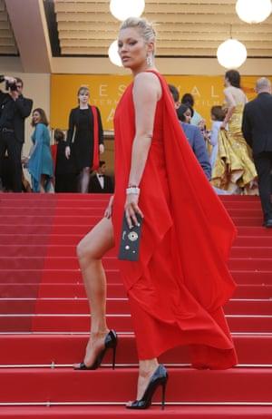 Kate Moss in one-shouldered vintage Halston