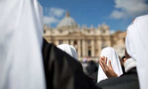 'Spiritual mothers' … nuns gather at the Vatican in Rome.