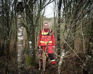 Eric Poupard, firefighter 'Most of the time, Eric and his search-and-rescue dogs are called upon to save people who get lost in the deep woodland that covers much of Brittany'