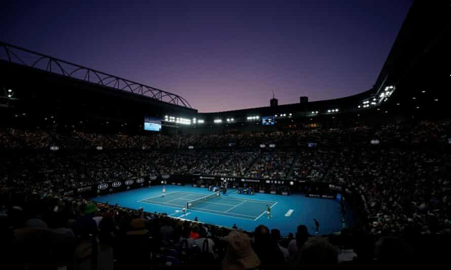 The Australian Open men's final at Melbourne Park in February 2020.