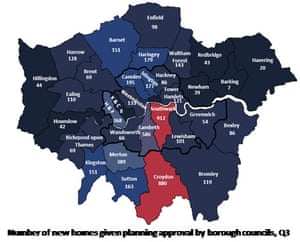 Approvals of new homes in London