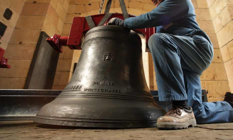 A bell made by the Whitechapel Bell Foundry in the church of St Magnus the Martyr.