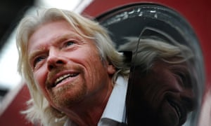 Richard Branson on a Virgin train