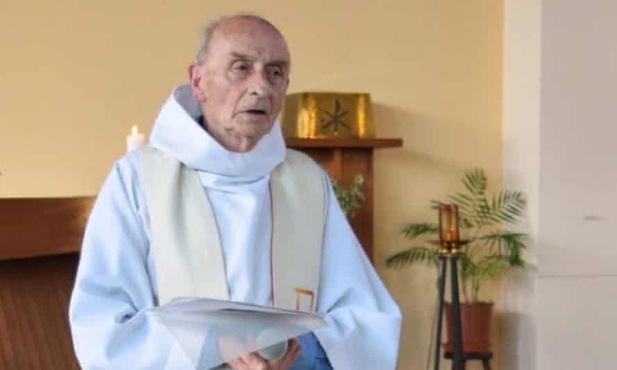 Jacques Hamel during a church service in Saint-Etienne-du-Rouvray, France.