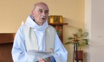 Jacques Hamel during a church service in Saint-Etienne-du-Rouvray, France.