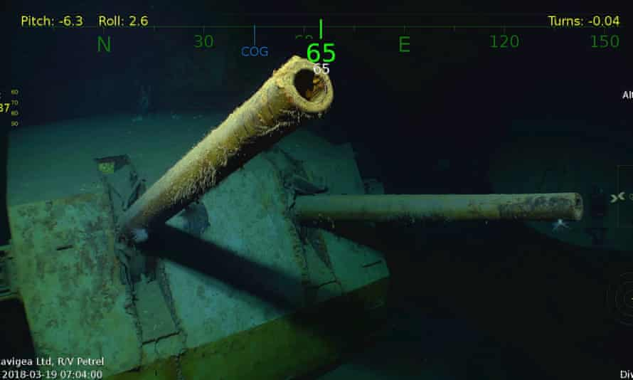 Underwater video shows the wreck of the USS Juneau, which has been found in the South Pacific.