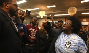Activists voiced dismay at the Sacramento city council meeting after prosecutors declined to charge police in Stephon Clark's death.