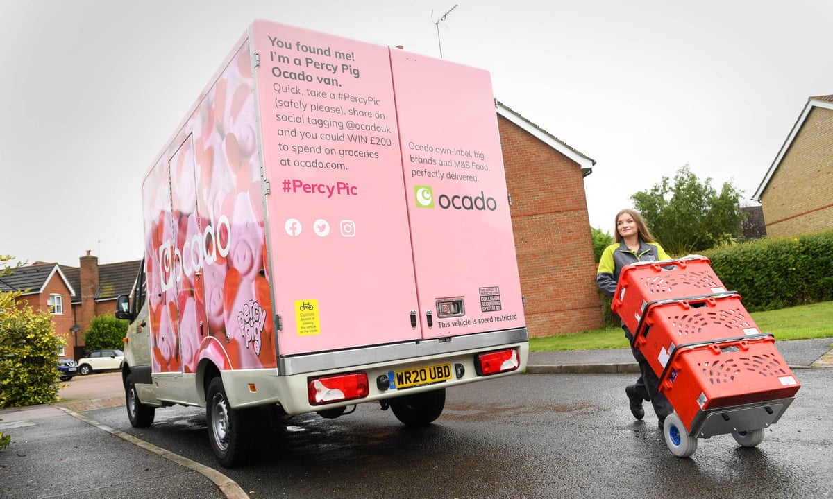 Percy Pig hits the roads as M&S deliveries by Ocado begin | Marks & Spencer  | The Guardian
